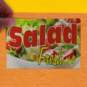 Decal Sticker Salad Fresh Restaurant Food Salad Outdoor Store Sign Red