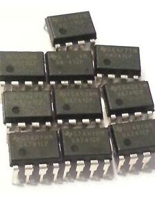 Lot Of 50 Integrated Circuit Ua741cp cn Amplifier Op Amp