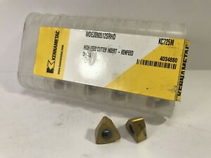 Kennametal Woej090512srhd New Carbide Inserts Grade Kc725m 10pcs