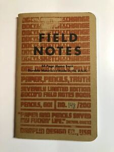 Field Notes Ddc Vs Sketchxchange Rare 1 Of 200