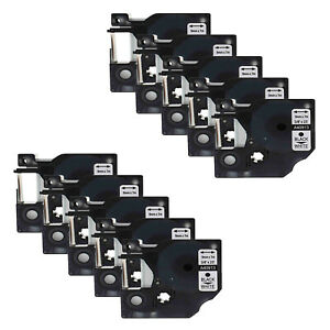 10pk Black On White 40913 Tape For Dymo D1 Labelmanager 280 450 Label Makers 9mm