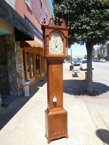 Outstanding American Walnut Tall Case Clock 19th Century