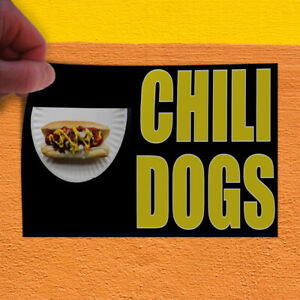 Decal Sticker Chili Dogs 1 Style B Restaurant Food Chili Dogs Store Sign
