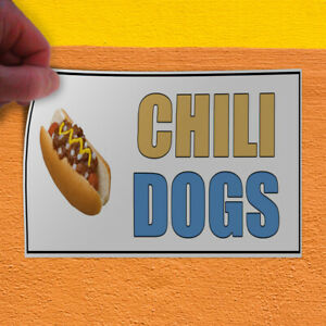Decal Sticker Chili Dogs White Restaurant Food Hot Dogs Outdoor Store Sign