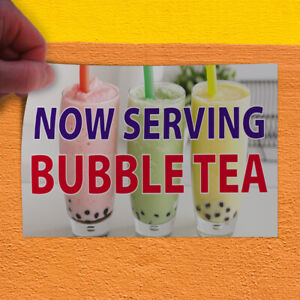 Decal Sticker Now Serving Bubble Tea Restaurant Food Now Serving Store Sign