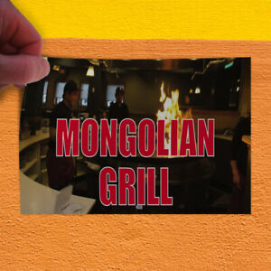 Decal Sticker Mongolian Grill Restaurant Food Mongolian Grill Store Sign