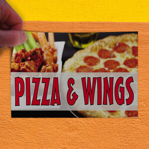 Decal Sticker Pizza Wings 3 Restaurant Food Pizza Wings Outdoor Store Sign