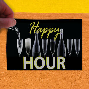Decal Sticker Happy Hour Business Restaurant Food Happy Outdoor Store Sign