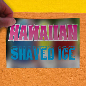 Decal Sticker Hawaiian Shaved Ice Restaurant Cafe Bar Outdoor Store Sign Pink
