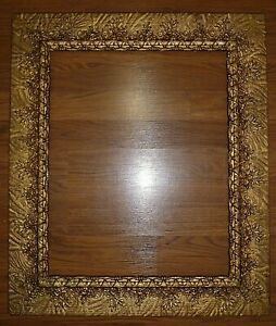 Antique Victorian Aesthetic Movement Wood Gesso Picture Frame 16 X 20