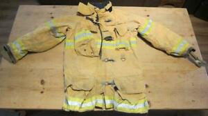 Lion Janesville Firefighter Fireman Turnout Gear Jacket Size 40 35 r b d1