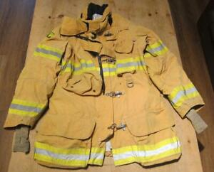 Lion Janesville Firefighter Fireman Turnout Gear Jacket Size 44 35 r b nn1