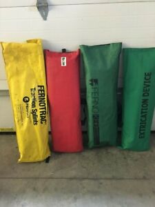 Lot Of ferno Fernotrac Traction Splints Adult And Pediatric And 3 Ked s