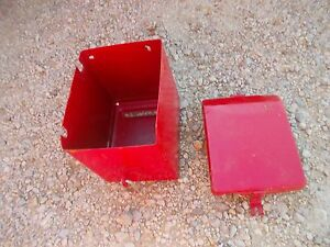 Farmall H Early Sh O4 Tractor Battery Box With Ih Lid Complete With 2 Rubber Sp