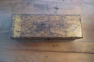 Standard Gage Company Dial Bore And Snap In Wood Box No 1a Advertising