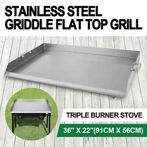 36 X 22 Stainless Steel Griddle Flat Top Grill Bbq Stove Griddle Cookware