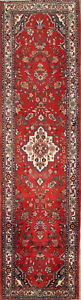 Great Deal Palace Size Red 4x14 Wool Persian Malayer Hamedan Oriental Runner Rug