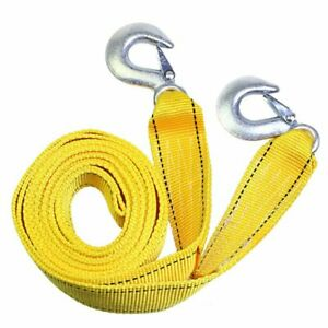 3 Tons Heavy Duty Tow Strap With Hooks Car Truck Tow Cable 3m Towing Strap Rope