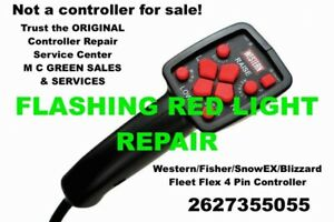 Flashing Red Light Repair Blizzard Snowex Snow Plow 4 Pin Controller Fleet Flex