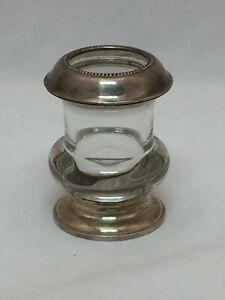 Antique American Sterling Silver Glass Cigarette Urn Holder Signed Frank Whiting