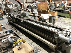 32 Swing X 144 Center Engine Lathe Lodge Shipley 3220 With Tracer Tooling