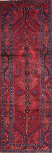 3x10 Persian Hamadan Malayer Wool One Of A Kind Geometric Oriental Runner Rug