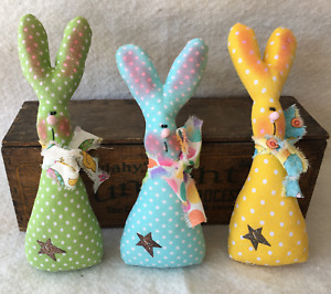Primitive Ornies Whimsical Easter Bunnies Bowl Fillers Make Do S Prim Ornies