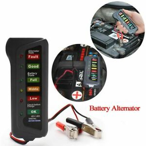 Alternator Auto Car Battery Tester Led Lights Digital Display Diagnostic Tool
