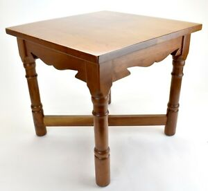 Vintage Stickley Solid Cherry End Table Old Mission 1981
