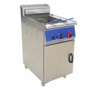 Heavy Duty Deep Fryers Machine Cooking Vege Stainless Steel Gas Fryer Easy Used