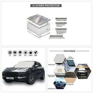 Car Windshield Snow Ice Cover Auto Sun Shade Protector Thick Windproof Design Us