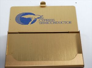 Rare Vintage cypress Semiconductor Business credit Card Holder Case Nos