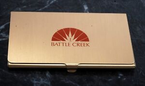 Rare Vintage battle Creek Business credit Card Holder Case Nos