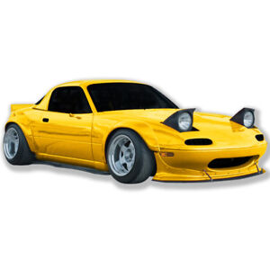 Miata 90 97 Mazda Full Wide Body Kit Front Lip Fender Wing Fiberglass Gt 180flk