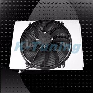 Kks Aluminum Radiator Shroud 16 Fan Fit Chevy 55 57 Chevy 150 210 Bel Air V8
