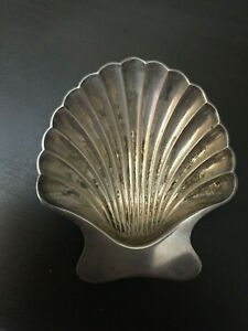 Tiffany Co Sterling Silver Scallop Clam Shell Footed Ashtray Dish
