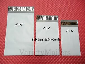 600 Small Poly Envelopes 3 Sizes Self sealing Mailers Expedited Shipping