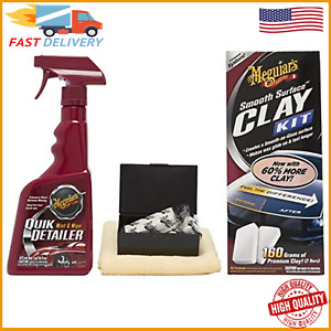 Meguiar S Smooth Surface Clay Kit 2 Clay Bars Quick Detailer Car Care Hq
