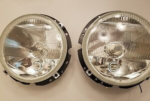 Custom Vintage Vw Volkswagen Bug Ghia 67 79 H4 Glass Flat Headlights City Light