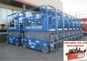 New Genie Gs 1930 19 Ft Electric Scissor Lift Flat Rate Shipping