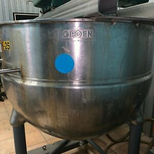 200 Gallon Kettle With Sweep And Lightnin Mixer
