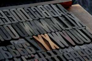 Letterpress Wood Printing Blocks 119pcs 2 83 Tall Wooden Type Woodtype Alphabet