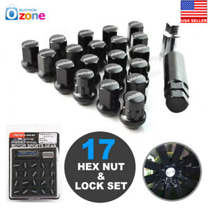 22pcs Rays 17 Hex Wheel Lug Nuts Lock Nut Set For 5h M12xp1 25 Black