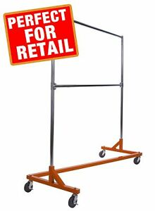 Econoco Industrial Garment Rack Z Rack Rolling Clothes Z With Kd Constructi