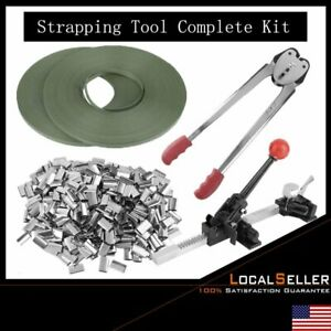 Strapping Tool Kit Poly 690 Ft Pstrap 400 Steel Seals Tools Us Ship Vi