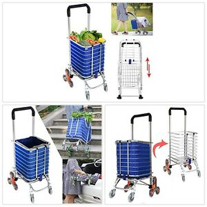 Folding Shopping Cart 177pound Heavy Duty Rolling Grocery Carts Reusable Utility