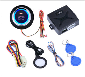 12v Car Keyless Entry Engine Start Alarm System Push Button Remote Starter