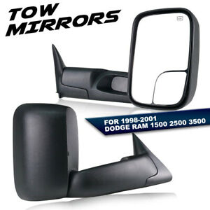 Left right For 1998 2001 Dodge Ram 1500 2500 3500 Power heated Tow Mirrors Pair