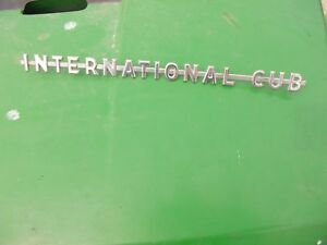 International Cub Low Boy Tractor 1 Orgnal Ih Gas Tank Side Panel Chrome Emblem
