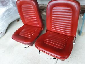 1964 67 Ford Mustang Front Bucket Seats Right And Left Real Nice Oem